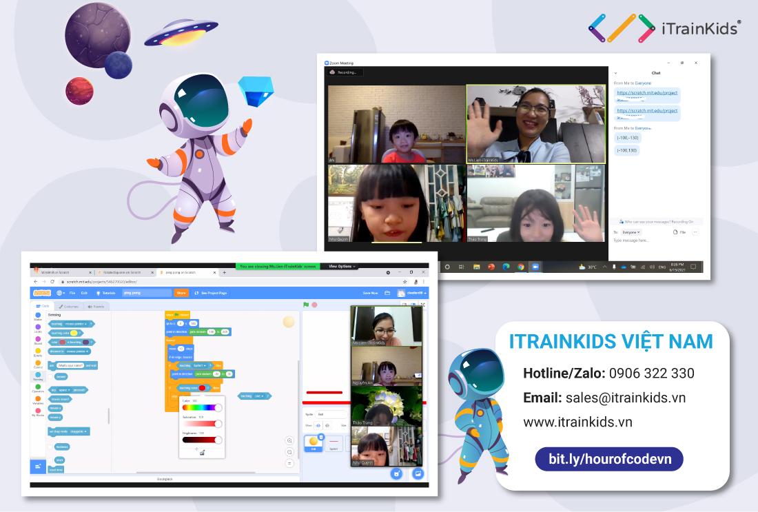 Lớp học online ngôn ngữ lập trình cho trẻ em