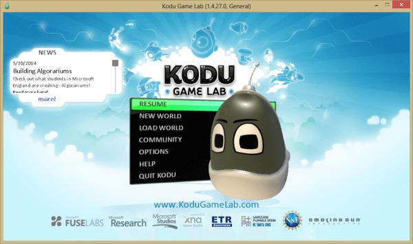 Phần mềm lập trình Kodu