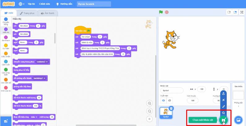 Hướng dẫn cách sử dụng phần mềm Scratch